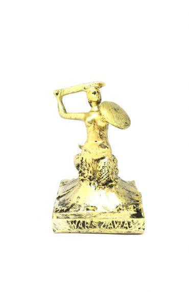 syrenka złota duża 370x572 - Syrenka warszawska duża - złota