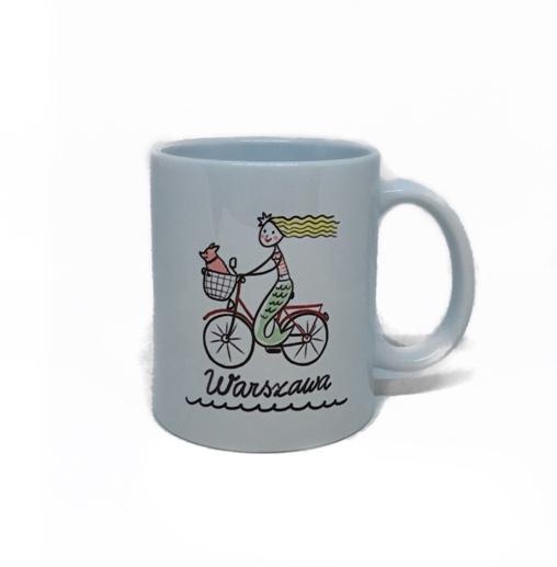 kubek syrenka na rowerze - Kubek