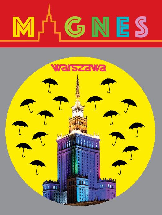 parasol żółty - Magnes