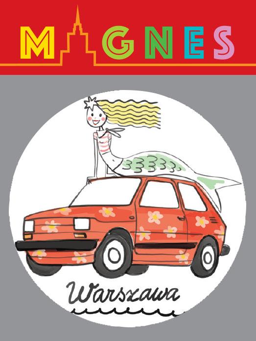syrenka maluch - Magnes