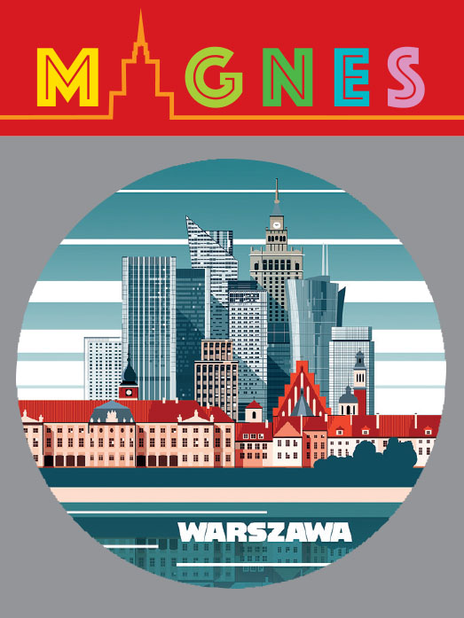 wieżowce piękny - Magnes