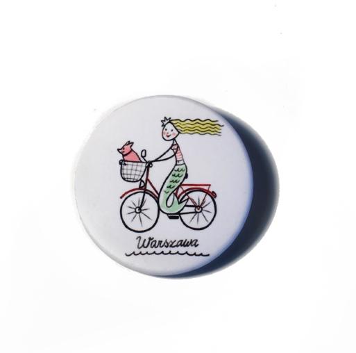 syrenka na rowerze - Przypinka