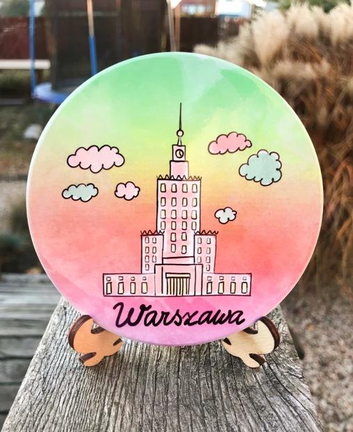 pkin zachód - Podkładka ceramiczna