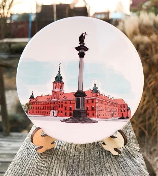 zamek królewski - Podkładka ceramiczna