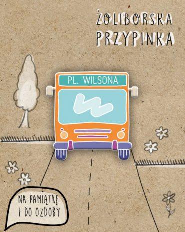"""26914167 10214107811359936 1609467692 n 370x463 - Przypinka Autobus """"Pl. Wilsona"""""""